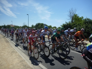 The peleton and Olonne Sur Mer