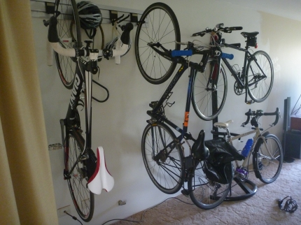 Storage for four bikes at my house