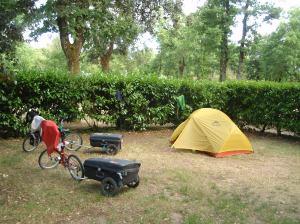 Campsite at Parc de la Gareme, Pont L'Abbe