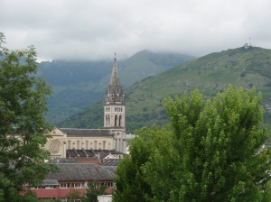 View from our Hotel in Lourdes