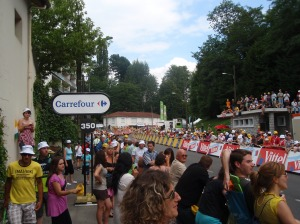 The crowd in Lourdes