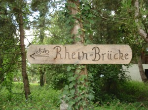 home made Rhein sign