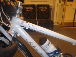 schwinn on train
